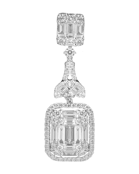 photo of princess cut diamond pendant