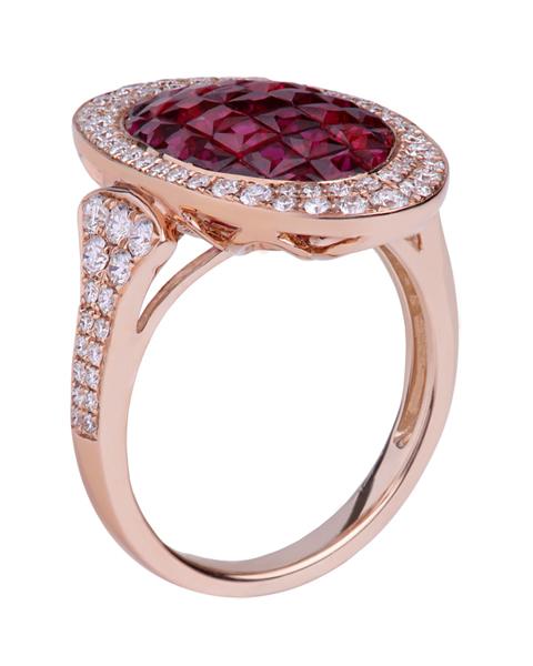 عکس انگشتر جواهر یاقوت قرمز