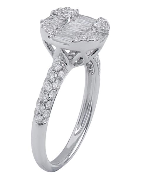 عکس انگشتر الماس باگت
