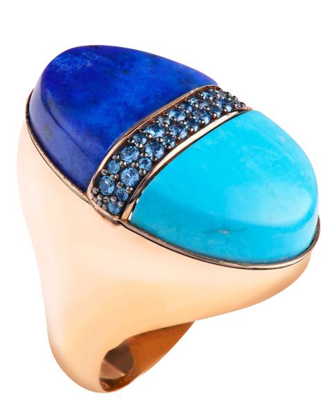 عکس انگشتر آبی رنگ
