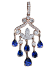 photo of shed sapphire pendant of half set