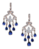 photo of shed sapphire earrings of half set
