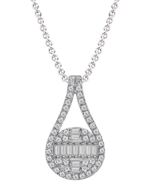عکس آویز الماس تراش باگت