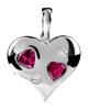 عکس آویز قلب رودولایت و الماس