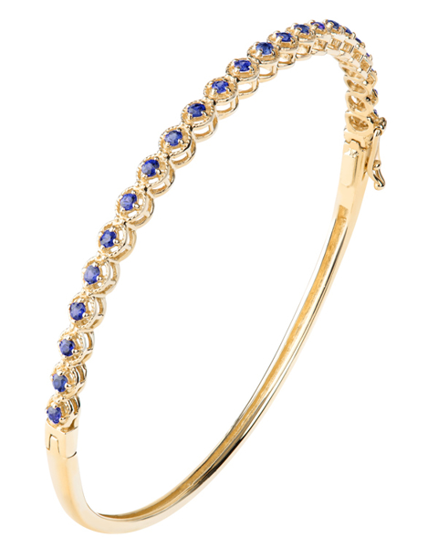 عکس دستبند یاقوت کبود طلا